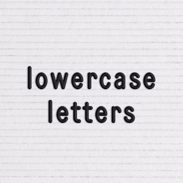 Additional Sans Lowercase Black Letter Set - Letterfolk