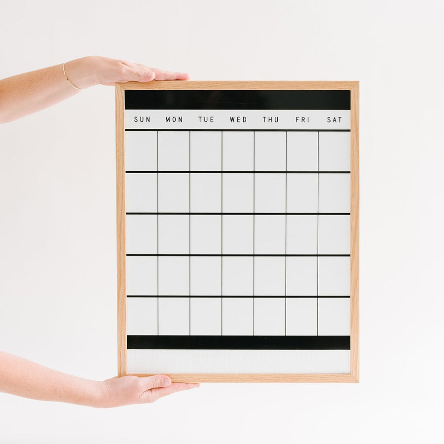 Block Compact Monthly Calendar - Letterfolk