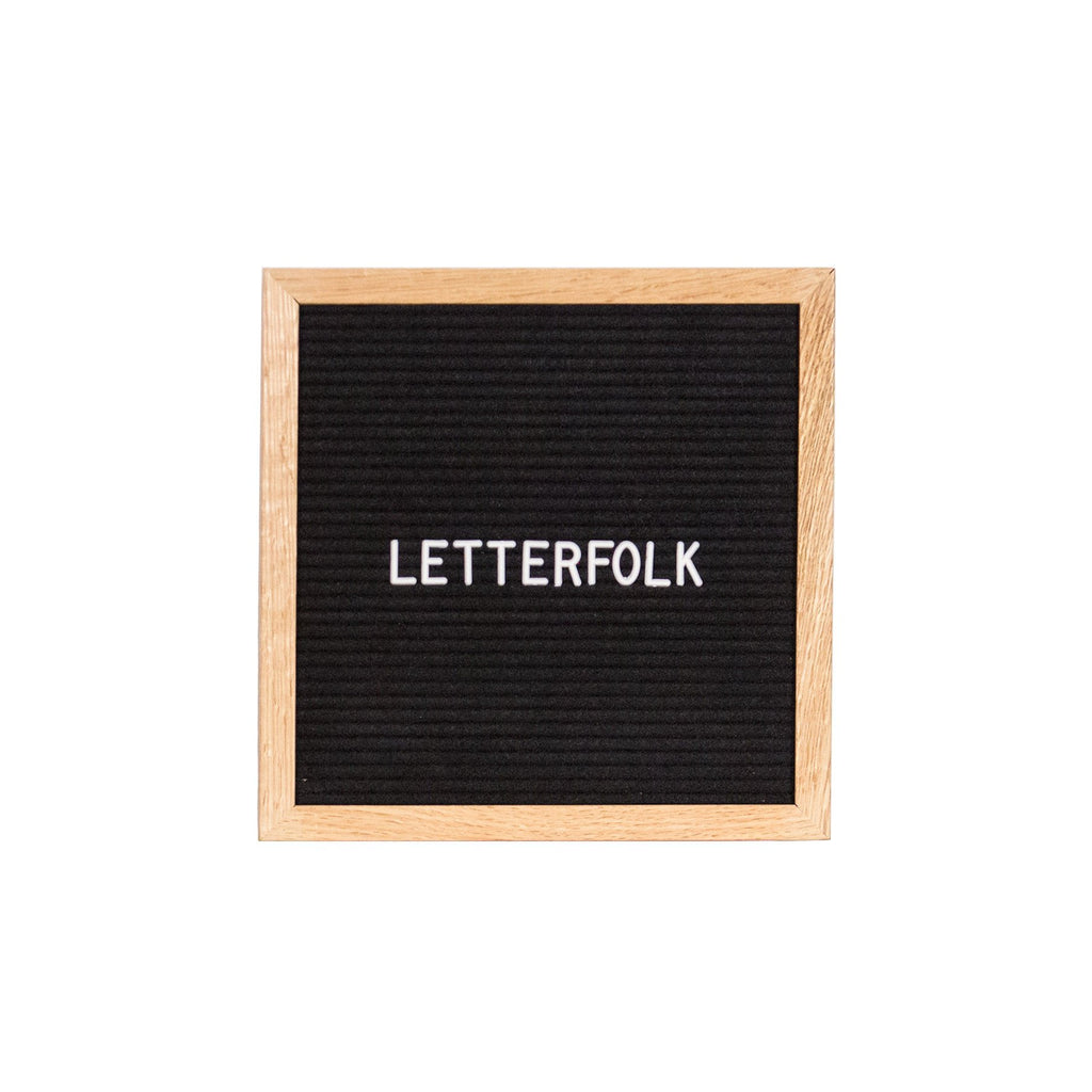 Poet Oak letter board by Letterfolk