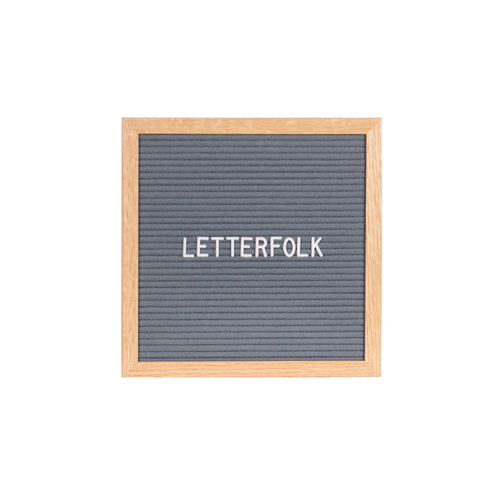 Poet Grey letter board by Letterfolk