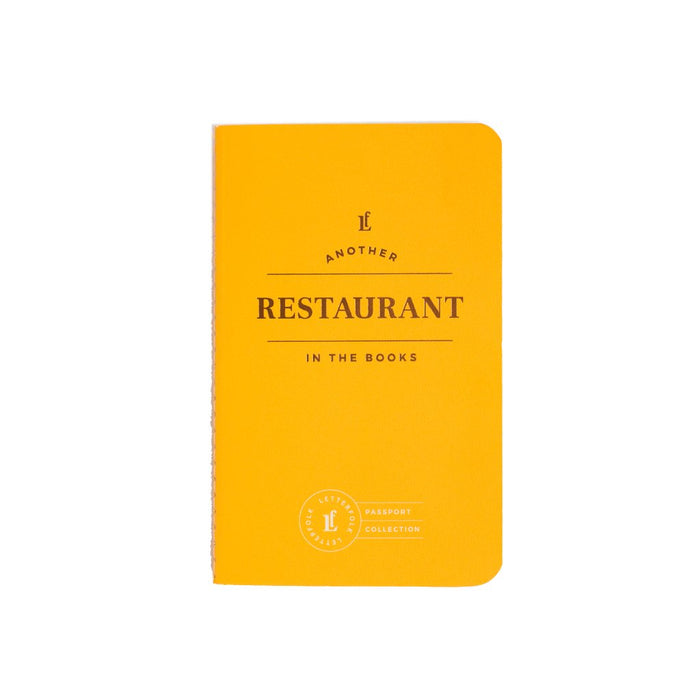 Restaurant Passport - Letterfolk