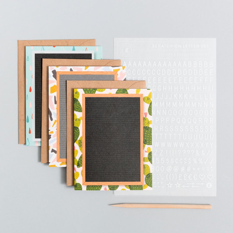 Scratch On ™ Letter Board Greeting Card (Set 2) - Letterfolk