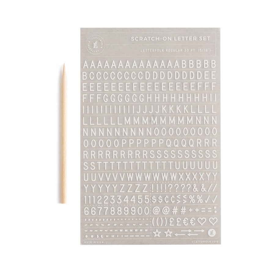 Additional Scratch On ™ Letter Sheet - Letterfolk