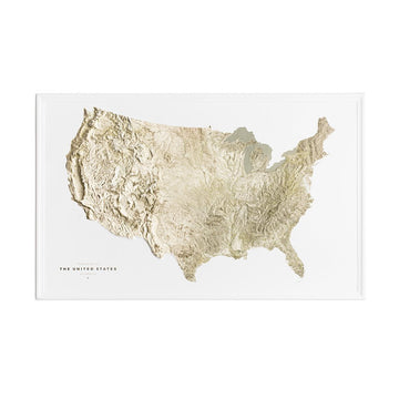 Terrain Map of the United States (Warehouse Sale) - Letterfolk