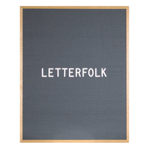 Wordsmith Grey letter board by Letterfolk