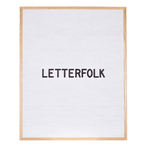 Wordsmith White letter board by Letterfolk