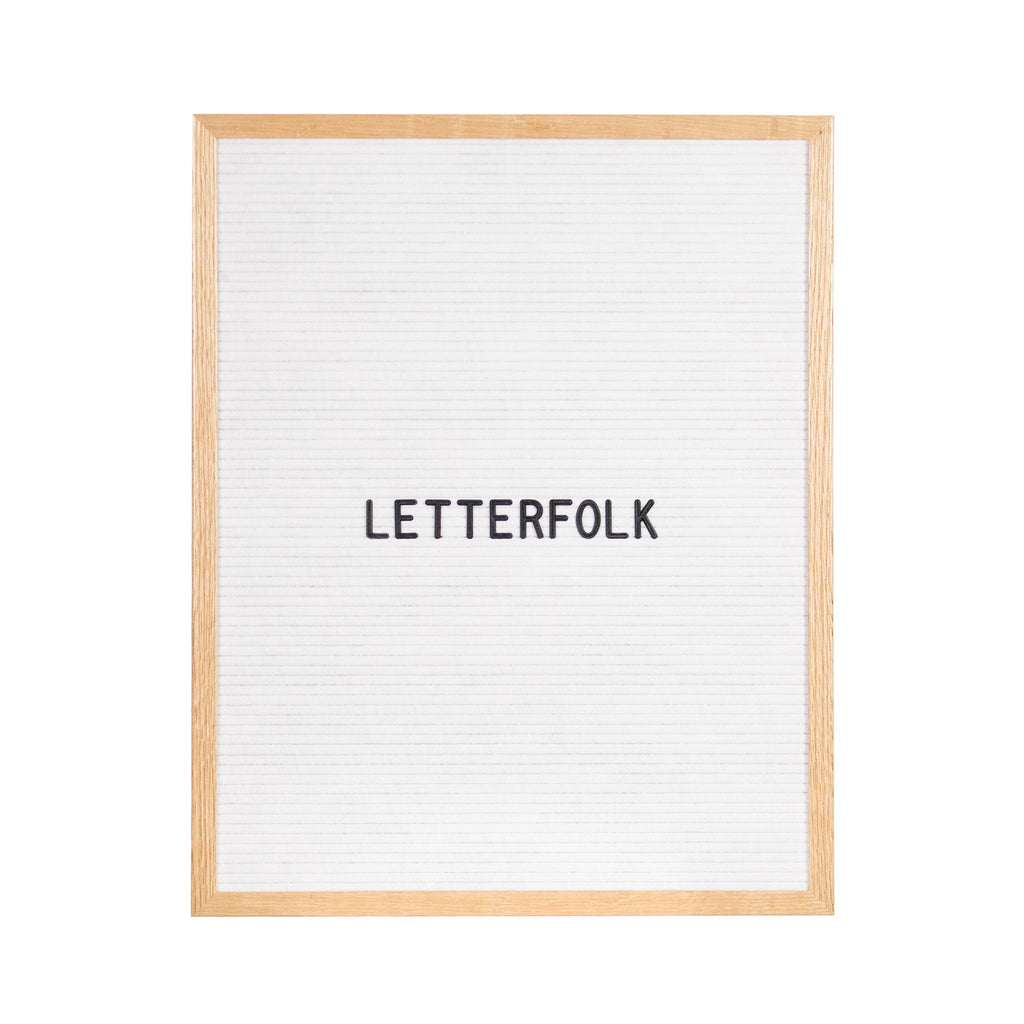 Writer White letter board by Letterfolk