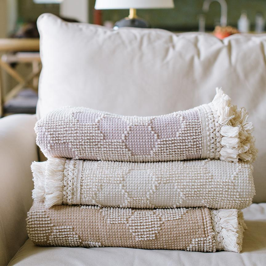 Tufted Diamond Throw - Letterfolk