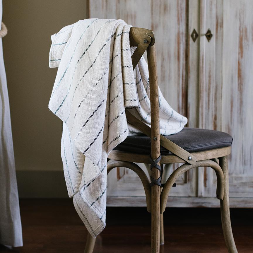 Ruled Cotton Throw - Letterfolk