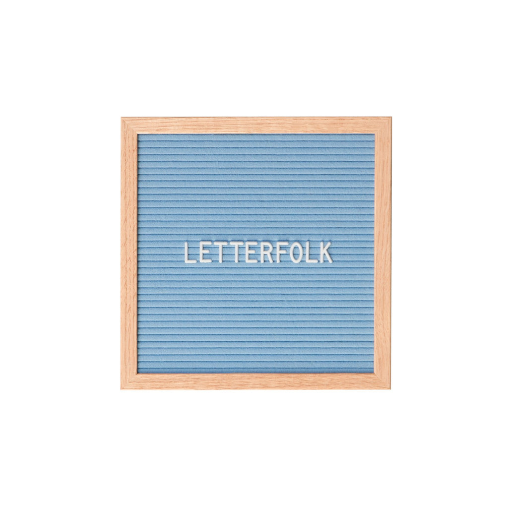 Poet Blue letter board by Letterfolk