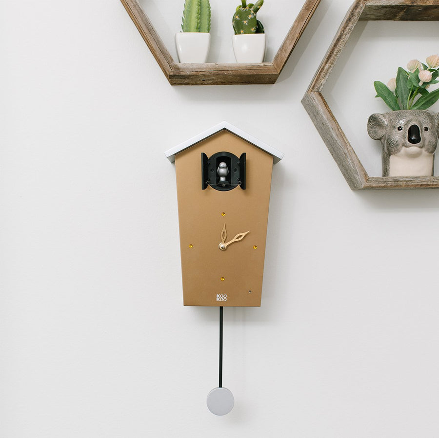 Modern Cuckoo Clock (Gold Limited) - Letterfolk