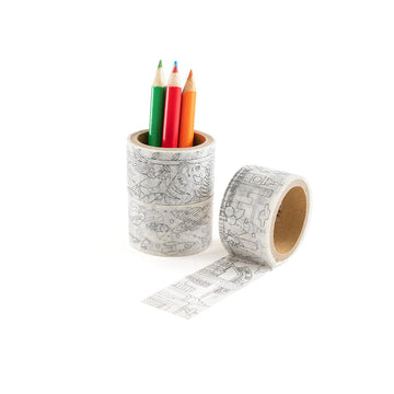 Doodle Washi Tape Coloring Kit - Letterfolk