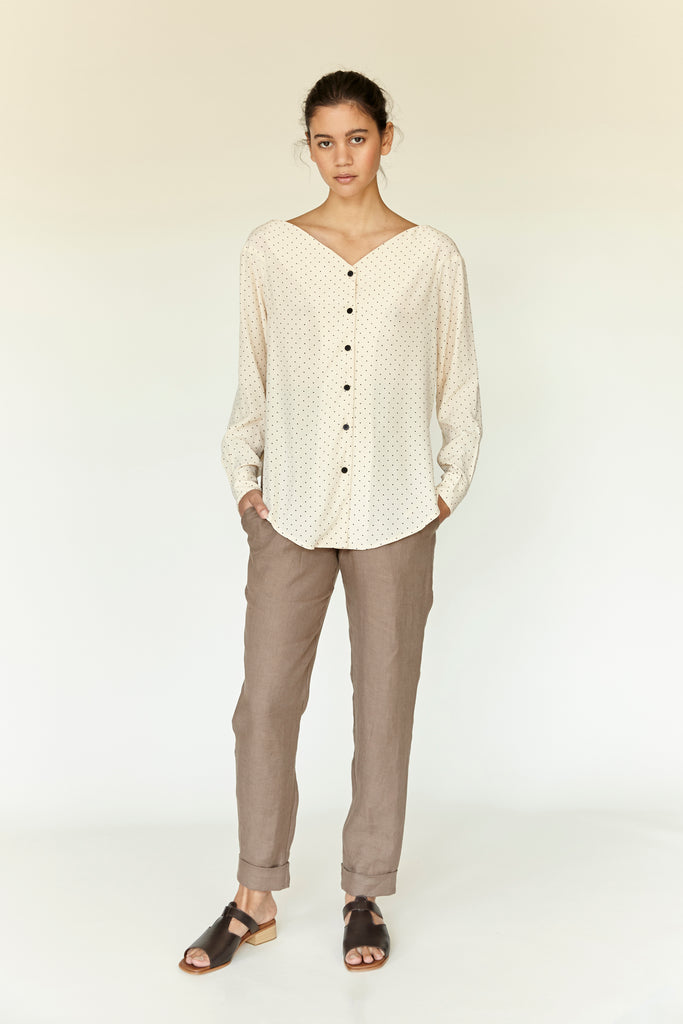 Little Dot Blouse - Ivory