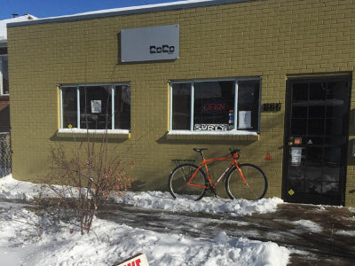 Coco Bikes Denver carries Ride Scoozy electric bikes for urban commuting.