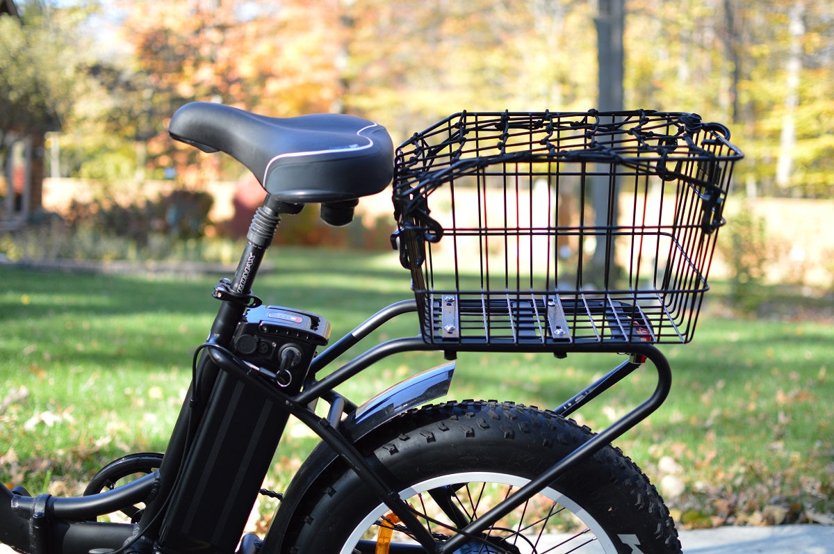 Sunlite Rear Wire Basket for Fat Tire Electric Bicycle