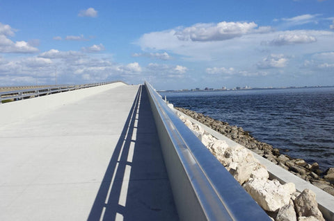 Courtney Campbell Causeway is a great place to ride bikes on the weekend.
