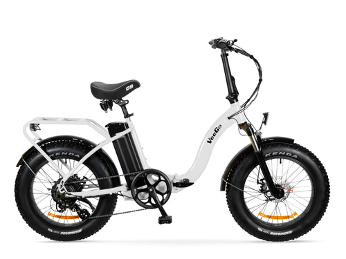 White VeeGo Popular for 2019 Electric Fat Tire Bikes
