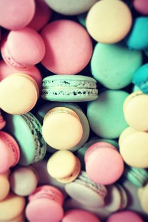 Our house made mini macarons