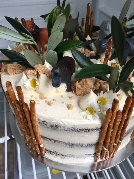 Safari cake, 3 layer cake