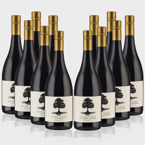 Scar Tree Shiraz 2016 & Scar Tree Cabernet 2016 Dozen - 6 Bottles Shiraz & 6 Bottles Cabernet