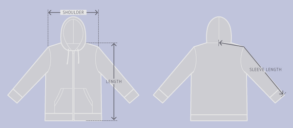 Camperville - How To Measure A Hoodie For Proper Size