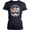 """We're More Than Just Camping Friends - We're Like A Really Small Gang"" Funny Women's Camping Shirt Navy"