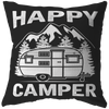 """Happy Camper"" Pillow"