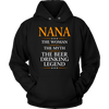 "Funny ""Nana The Woman, The Myth, The Beer Drinking Legend"" Black Hoodie"