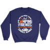 """We're More Than Just Camping Friends - We're Like A Really Small Gang"" Funny Women's Camping Sweatshirt Navy"