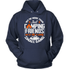 """We're More Than Just Camping Friends - We're Like A Really Small Gang"" Funny Camping Hoodie Navy"