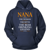 "Funny ""Nana The Woman, The Myth, The Beer Drinking Legend"" Navy Hoodie"