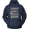 """Whiskey, Camping, and Country Music"" - Shirts and Hoodies"