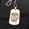 """Not All Who Wander Are Lost"" Dog Tag and Necklace"