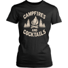 """Campfires And Cocktails"" - Shirts and Hoodies"