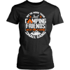 """We're More Than Just Camping Friends - We're Like A Really Small Gang"" Funny Women's Camping Shirt Black"