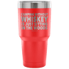 """Camping Without Whiskey Is Just Sitting In The Woods"" - Stainless Steel Tumbler"