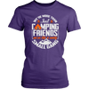 """We're More Than Just Camping Friends - We're Like A Really Small Gang"" Funny Women's Camping Shirt Purple"