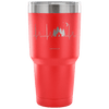 """Camping Tent EKG"" - Stainless Steel Tumbler"