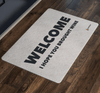 """Welcome - I Hope You Brought Wine"" Doormat"