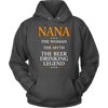 "Funny ""Nana The Woman, The Myth, The Beer Drinking Legend"" Gray Hoodie"