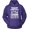 "Funny ""Weekend Forecast - Fishing With A Chance Of Drinking (Drinking May Be Heavy At Times)"" - Shirts and Hoodies"