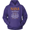 "Funny ""Nana The Woman, The Myth, The Beer Drinking Legend"" Purple Hoodie"