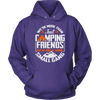 """We're More Than Just Camping Friends - We're Like A Really Small Gang"" Funny Camping Hoodie Purple"