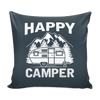 "Hand Crafted ""Happy Camper"" - Pillow Covers"