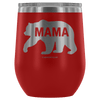 """Mama Bear"" - Stemless Wine Cup"