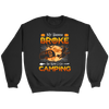 "Funny ""My Broom Broke So Now I Go Camping"" Halloween Camping Shirts and Hoodies"