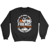 """We're More Than Just Camping Friends - We're Like A Really Small Gang"" Funny Women's Camping Sweatshirt Black"