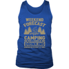 "Original ""Weekend Forecast Camping With A Chance Of Drinking"" - Tank"