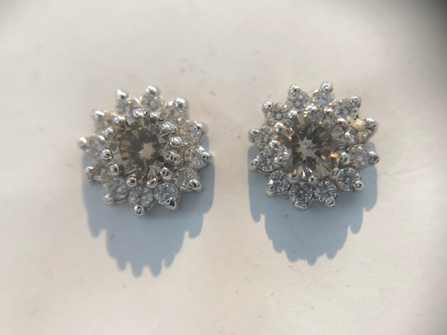 Champagne Diamond Earrings