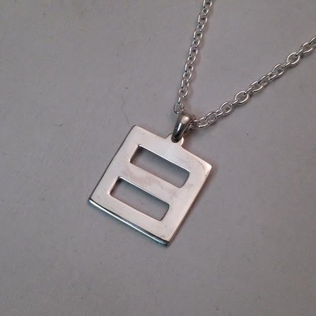"""Equality"" Pendant Sterling Silver Small"